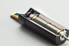 Querschnitt eines Elektromotors mit Dauermagneten