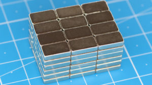 Sintered, metallic permanent magnet material (NdFeB)